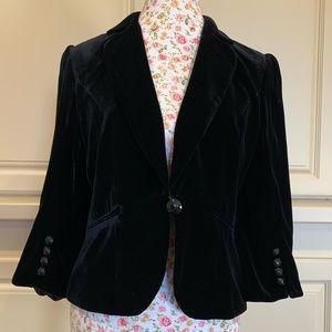 Loft black velvet jacket
